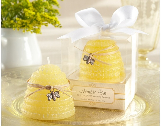 """Meant to Bee"" Honey-Scented Beehive Candle (Set of 4)"