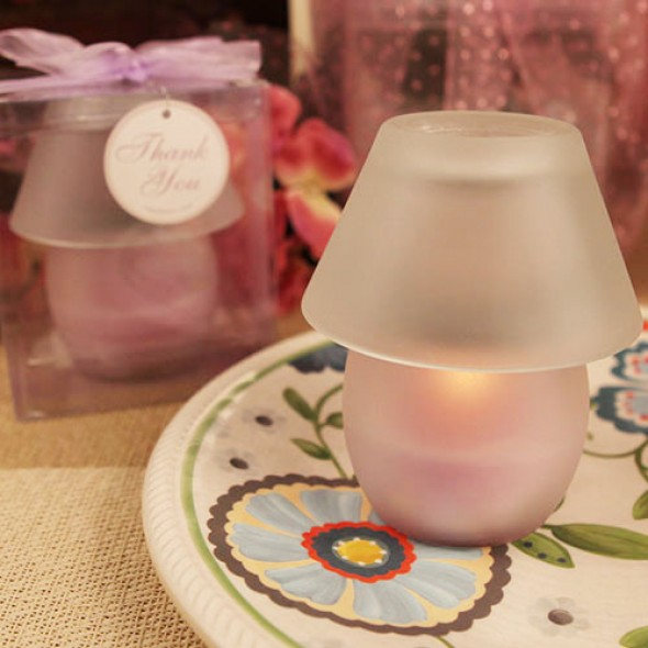 """PERFECT SHADE"" LAVENDER CANDLE LAMP"