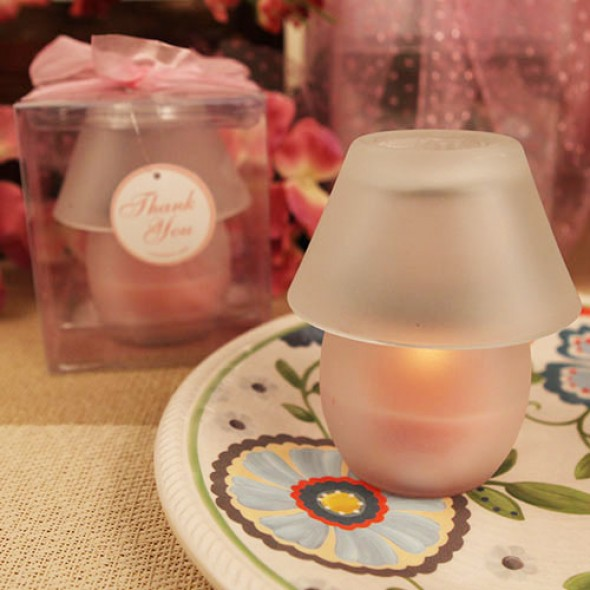 """PERFECT SHADE"" PINK CANDLE LAMP"