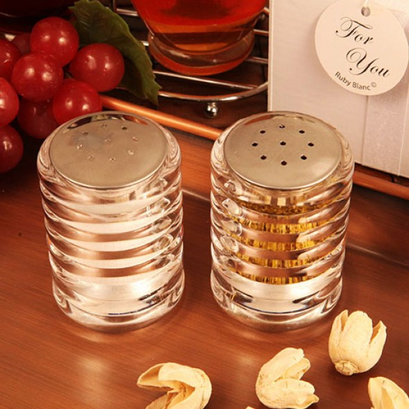 """ACCENTS OF LOVE"" SALT AND PEPPER SHAKER SET"