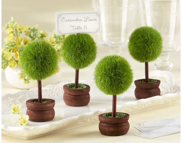 Topiary Photo Holder/Place Card Holder (Set of Four) - As Seen in InStyle Magazine