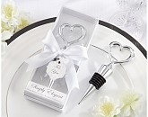 Simply Elegant Chrome Heart Bottle Stopper