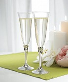 SILVER PLATED STEM WITH CRYSTALS GOBLETS