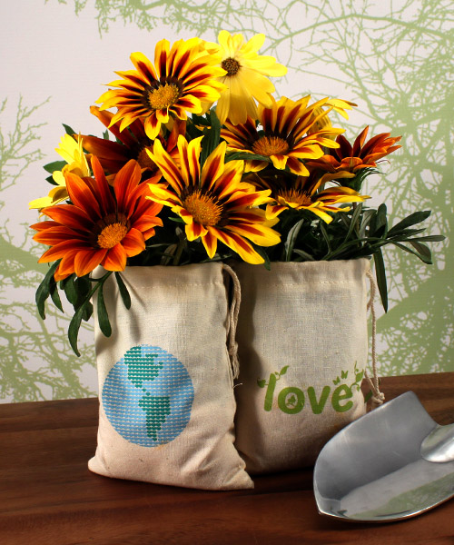ECO MINI DRAWSTRING BAG MADE OF 100% ORGANIC COTTON