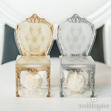 TRANSPARENT CHAIR WEDDING FAVOR BOXES